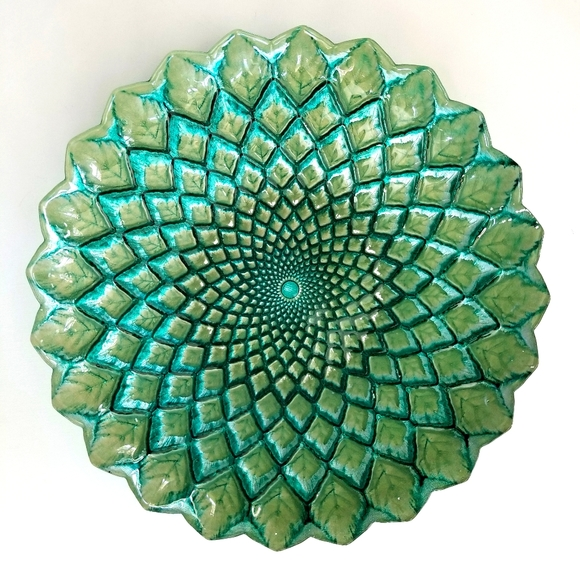 Glass Turquoise/Green Dish/Bowl